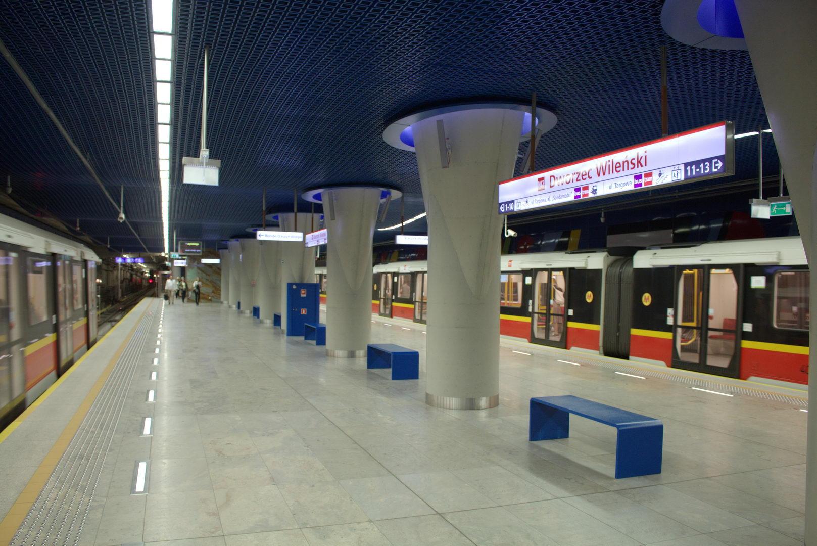 metro warszawskie ewakuacja stacji metra dworzec wile ski kolejowy portal dla. Black Bedroom Furniture Sets. Home Design Ideas