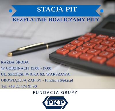 Stacja PIT – Fundacja Grupy PKP zaprasza do rozliczenia podatków
