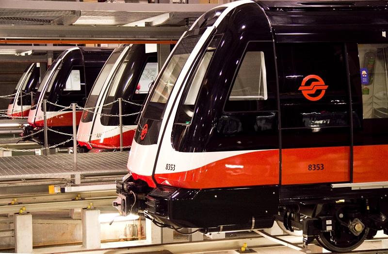 Pociągi dla metra w Singapurze