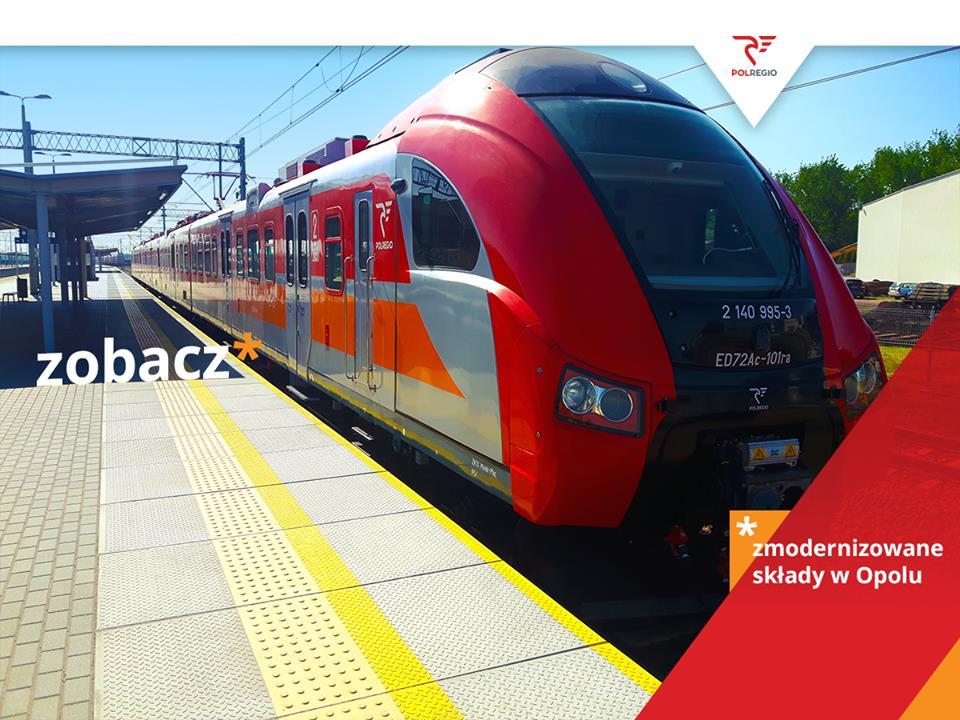 NaKolei.pl - 13 czerwca na opolskie tory wyjadą zmodernizowane pociągi ED 72
