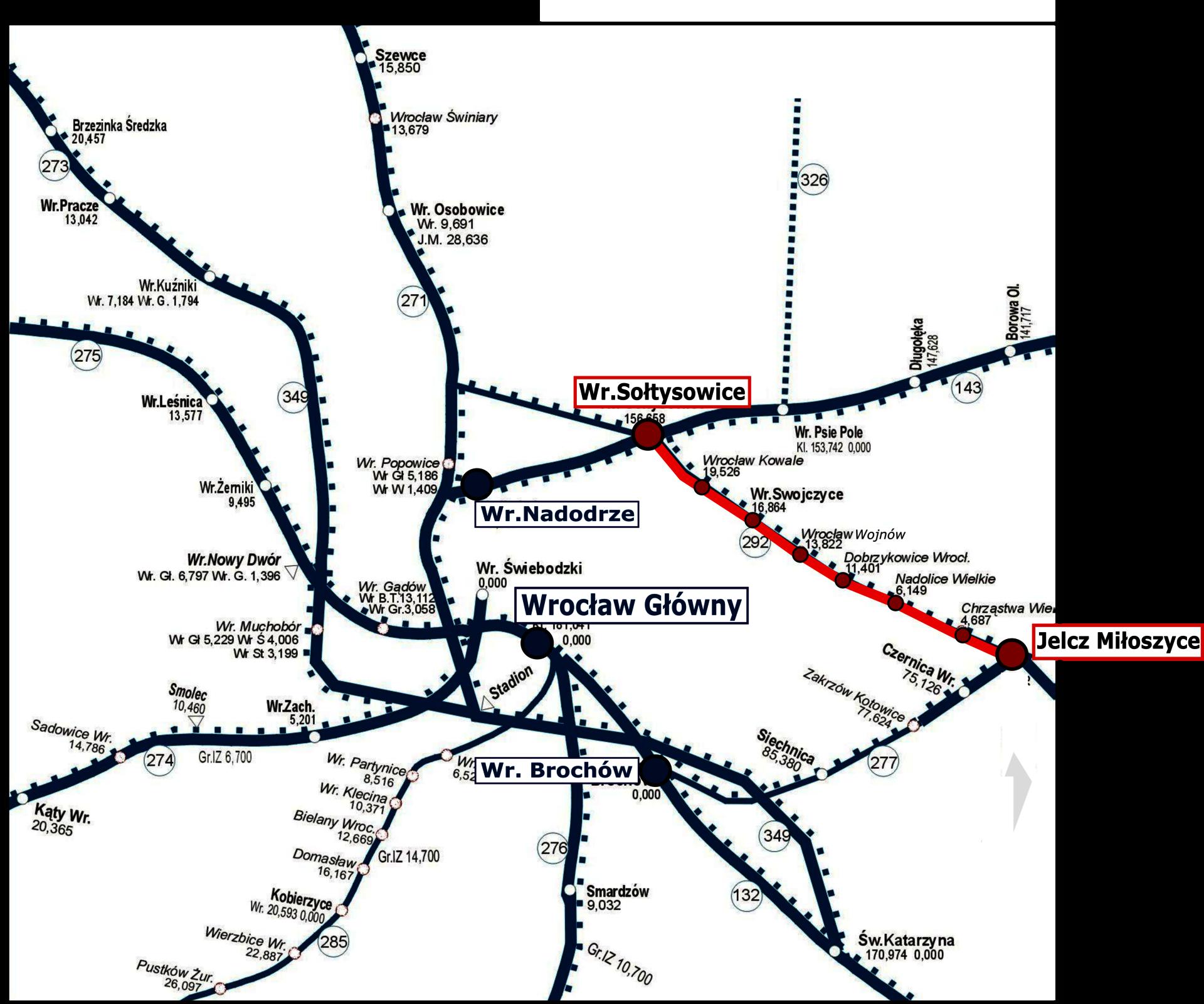 NaKolei.pl - W 2020 roku odnowiona będzie trasa Jelcz-Wrocław. Inwestycję podzielono na dwie części