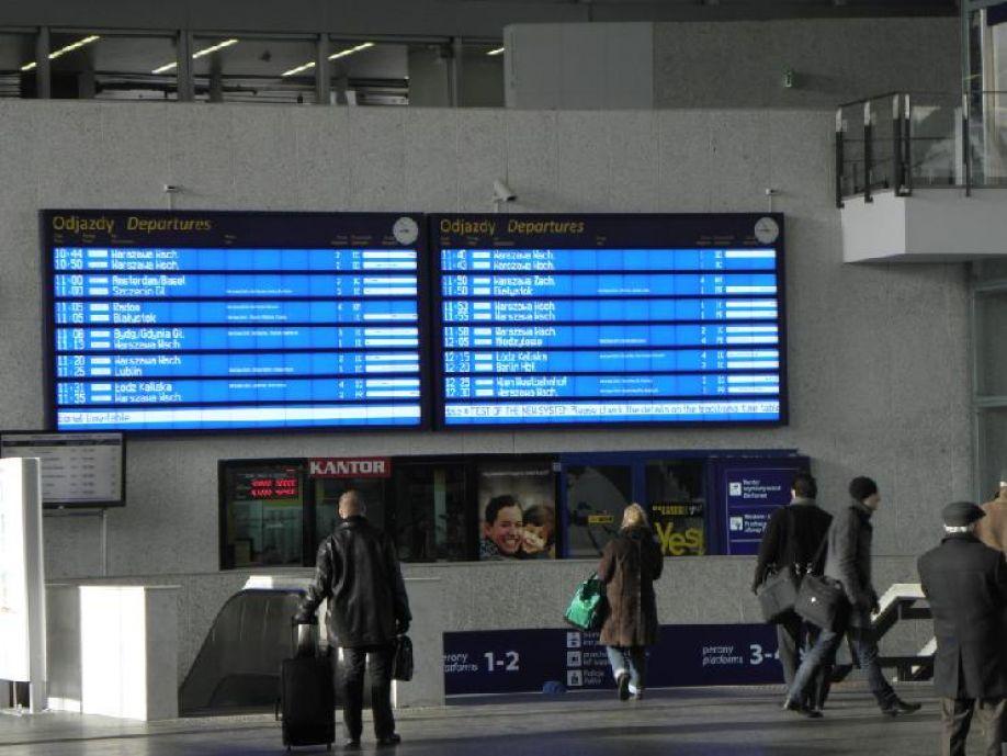 Punktualność pociągów pasażerskich w pierwszym kwartale