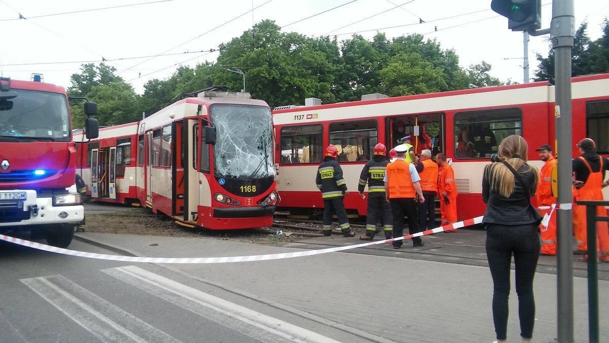 Zderzenie tramwajów w Gdańsku