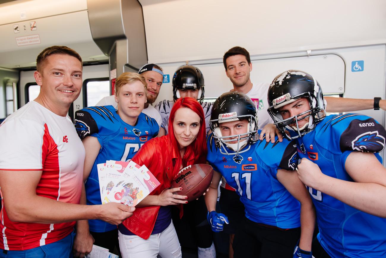 Sportowcy The World Games 2017 na pokładzie pociągu KD