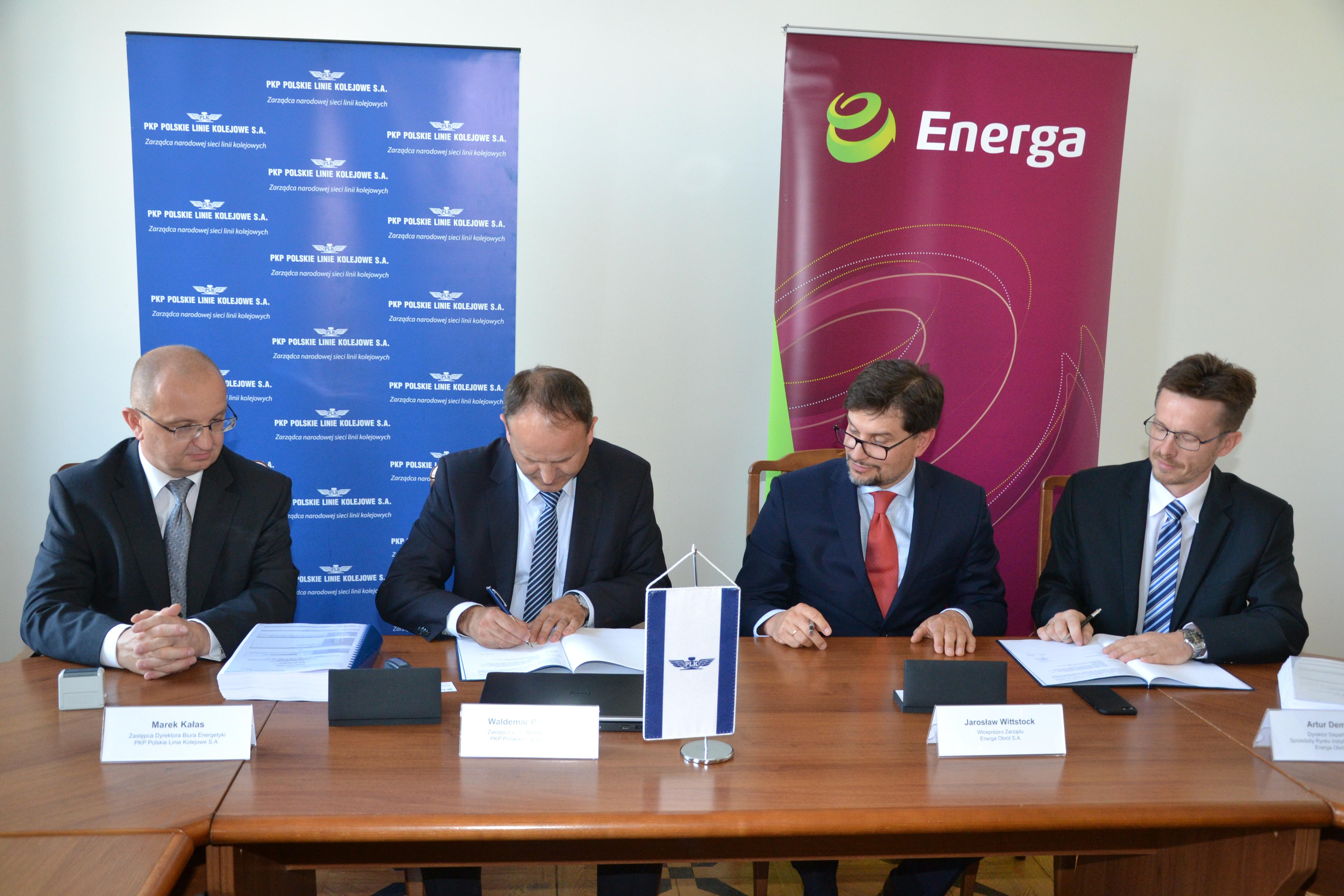 Energa Obrót S.A. : Spółka dostarczy energię elektryczną dla PKP PLK