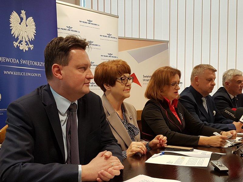 prace na linii łączącej Skarżysko-Kamienną z Sandomierzem