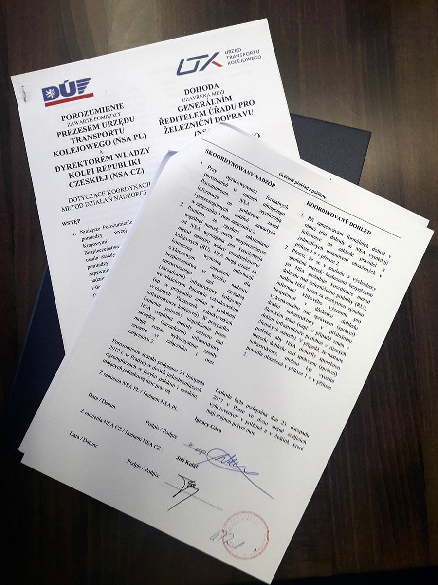 Porozumienie polsko-czeskie. UTK i Drážní Úřad będą prowadzić wspólny nadzór