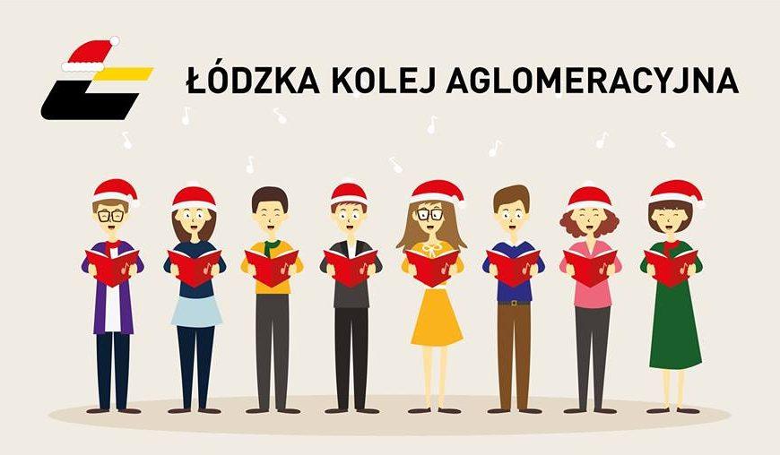 NaKolei.pl - Łódź Fabryczna - wspólne kolędowanie na dworcu z ŁKA