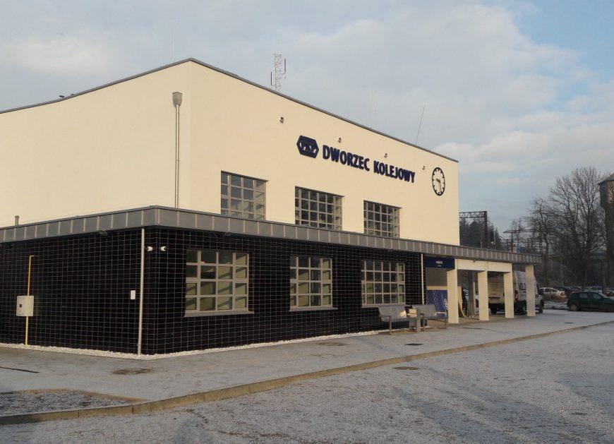 NaKolei.pl - Miechów: Pierwszy dworzec w Małopolsce odnowiony w ramach Programu Inwestycji Dworcowych na lata 2016-2023