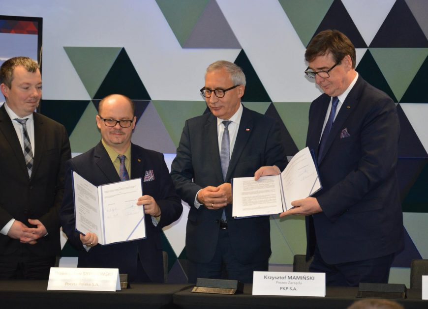 NaKolei.pl - List intencyjny PKP S.A. i Poczty Polskiej S.A. - grunty Spółek posłużą rozwojowi logistyki