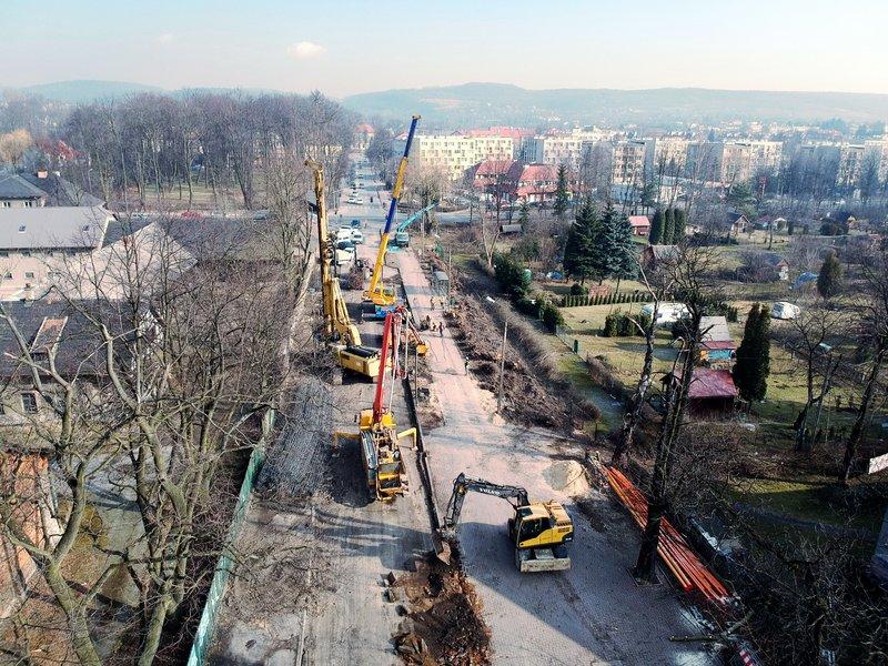 NaKolei.pl - Krzeszowice - remont stacji i wiaduktu częścią prac na linii Kraków-Katowice