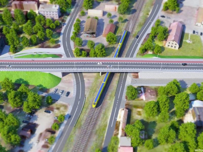 Budowa wiaduktu w Ostródzie