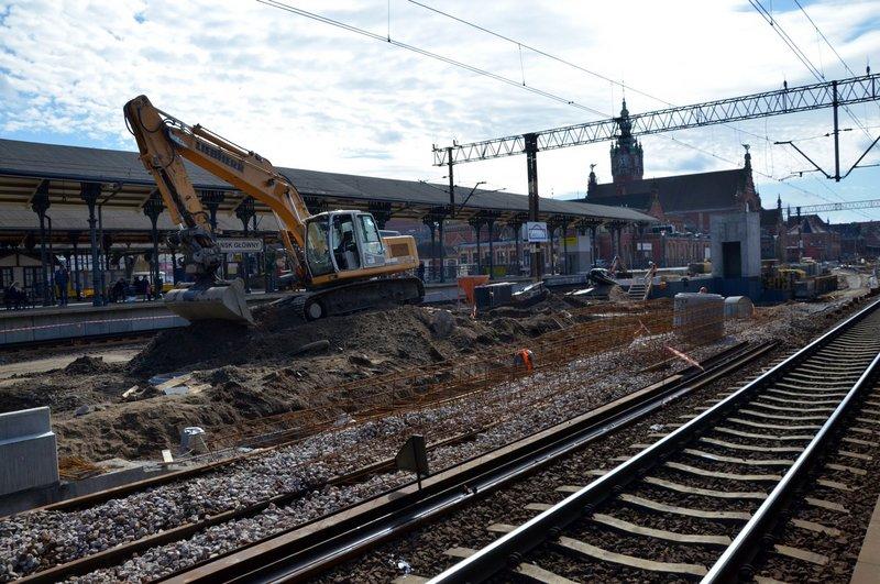 NaKolei.pl - Trwa modernizacja stacji Gdańsk Główny. Prace potrwają do stycznia 2020 r.