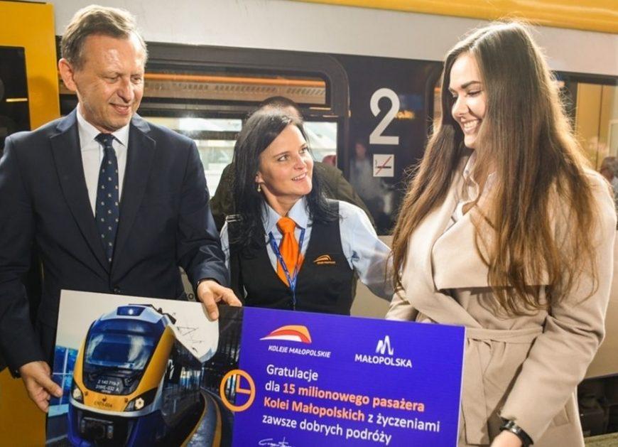 NaKolei.pl - 15 mln pasażerów w historii istnienia Kolei Małopolskich
