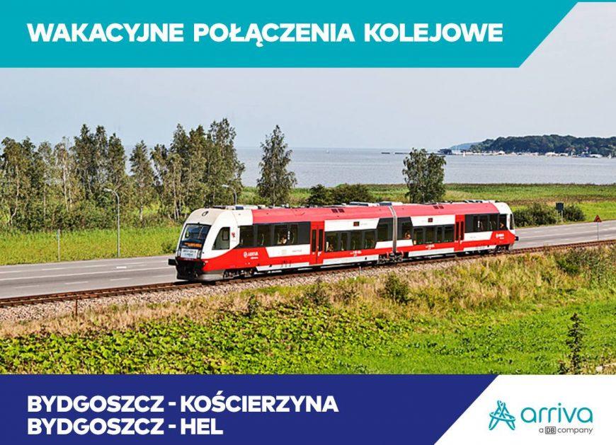 """NaKolei.pl - W ramach oferty ,,Multi Plaża"""" Arriva Polska uruchamia połączenie Bydgoszcz-Hel"""