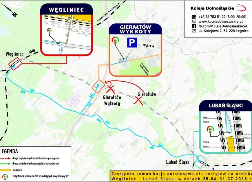 NaKolei.pl - Zmiany na liniach D1 i D19 po wykolejeniu pociągu towarowego na trasie Węgliniec-Lubań Śląski