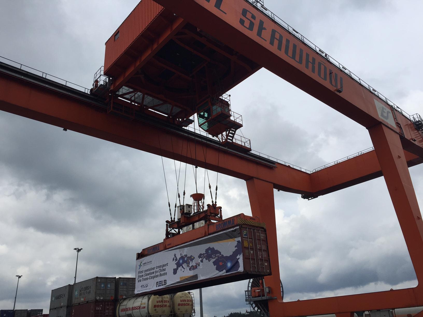 NaKolei.pl - Trasa transkaspijska - testowy przewóz kontenera ze Sławkowa do chińskiego Urumczi