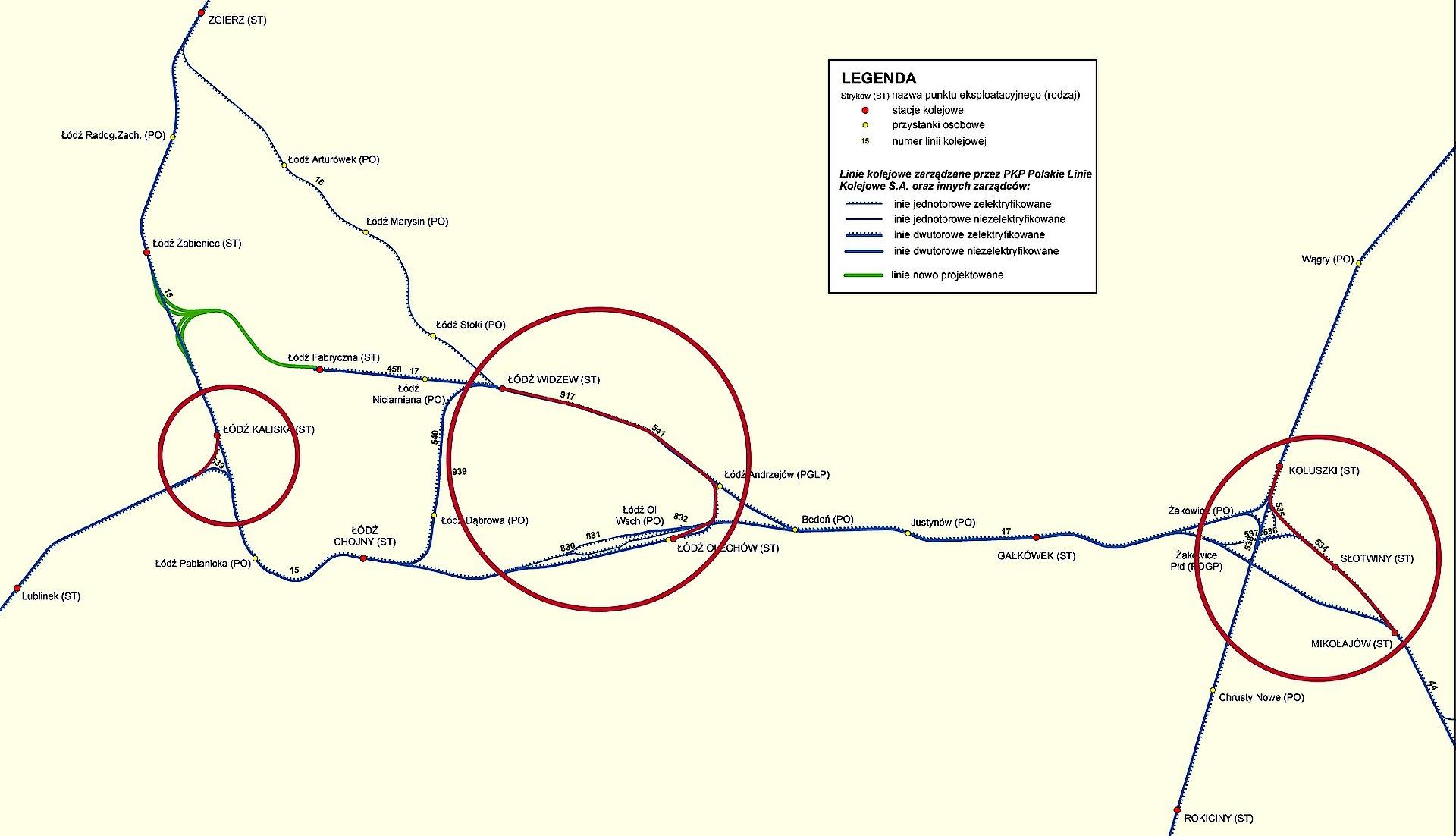 Łódzki węzeł kolejowy: Lepszy dojazd pociągów towarowych do terminalu w Łodzi Olechowie