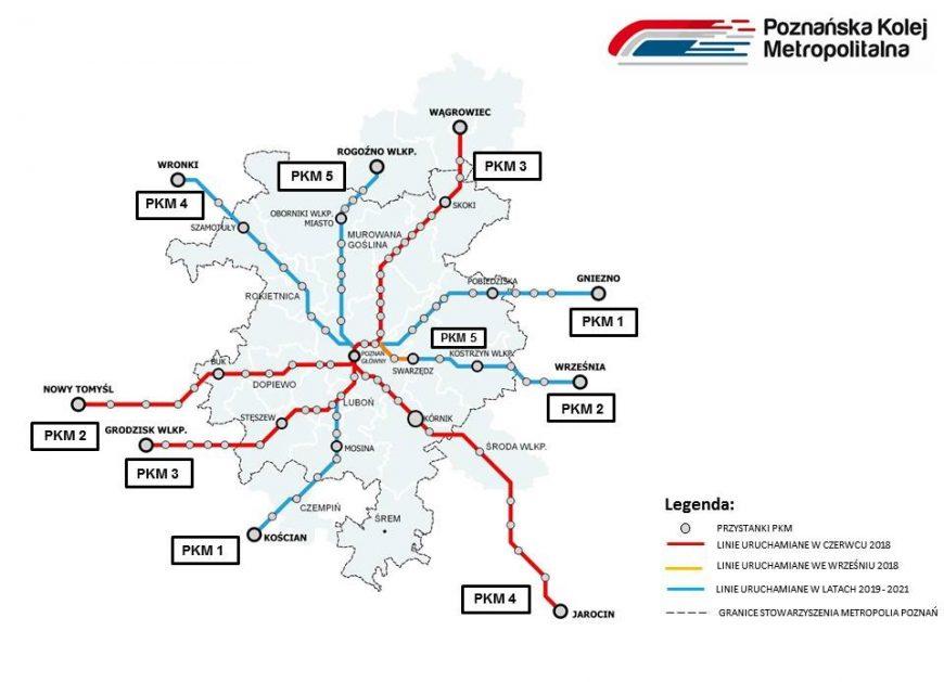 NaKolei.pl - Poznańska Kolej Metropolitalna z pociągami co 30 minut w godzinach szczytu