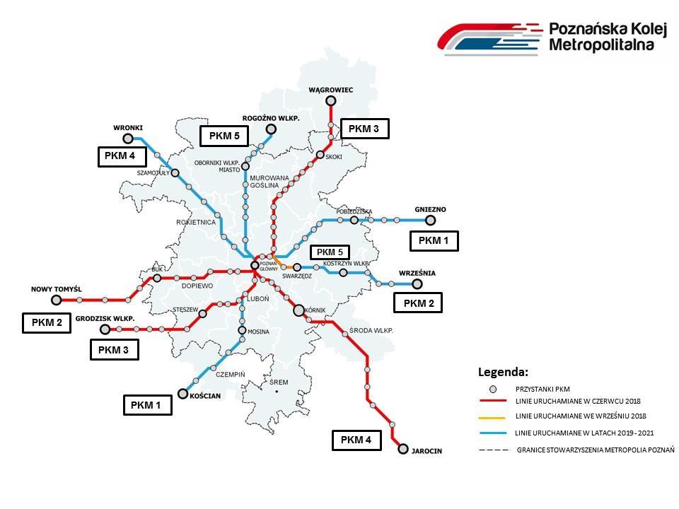 Poznańska Kolej Metropolitalna z pociągami co 30 minut w godzinach szczytu