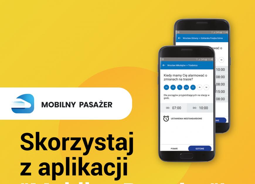 NaKolei.pl - Od 1 sierpnia aplikacja Mobilny Pasażer poinformuje o utrudnieniach pasażerów KD