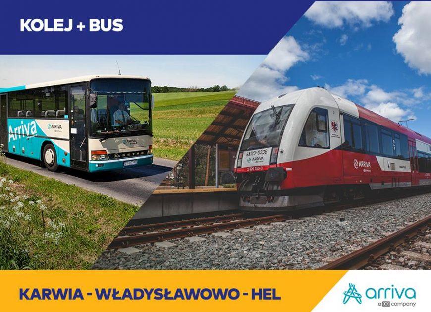 NaKolei.pl - Kolej plus bus? Arriva wprowadziła zniżki dla podróżujących wzdłuż wybrzeża Bałtyku
