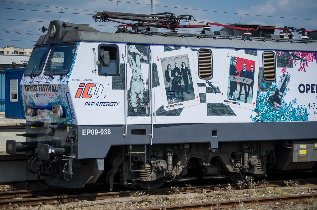 NaKolei.pl - Tak wygląda muzyczna lokomotywa PKP Intercity, która zawiezie na Open'er Festival