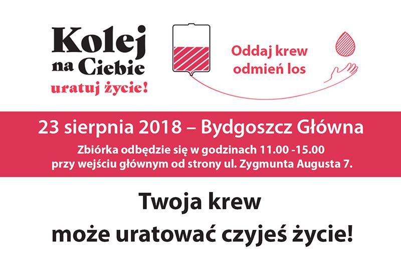 """NaKolei.pl - Krwiobus w Bydgoszczy. Trwa akcja ,,Kolej na Ciebie-uratuj życie"""""""
