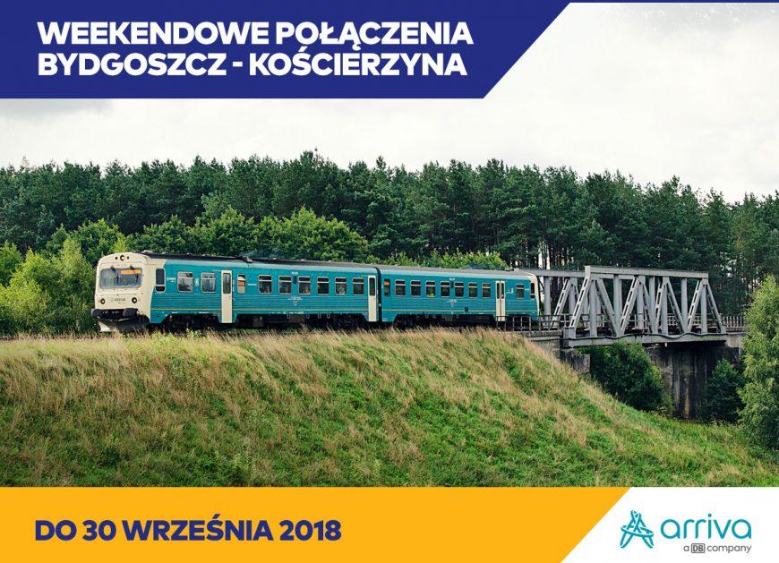 NaKolei.pl - Bydgoszcz-Czersk-Kościerzyna - pociągi Arriva Polska będą jeździć do 30 września br.