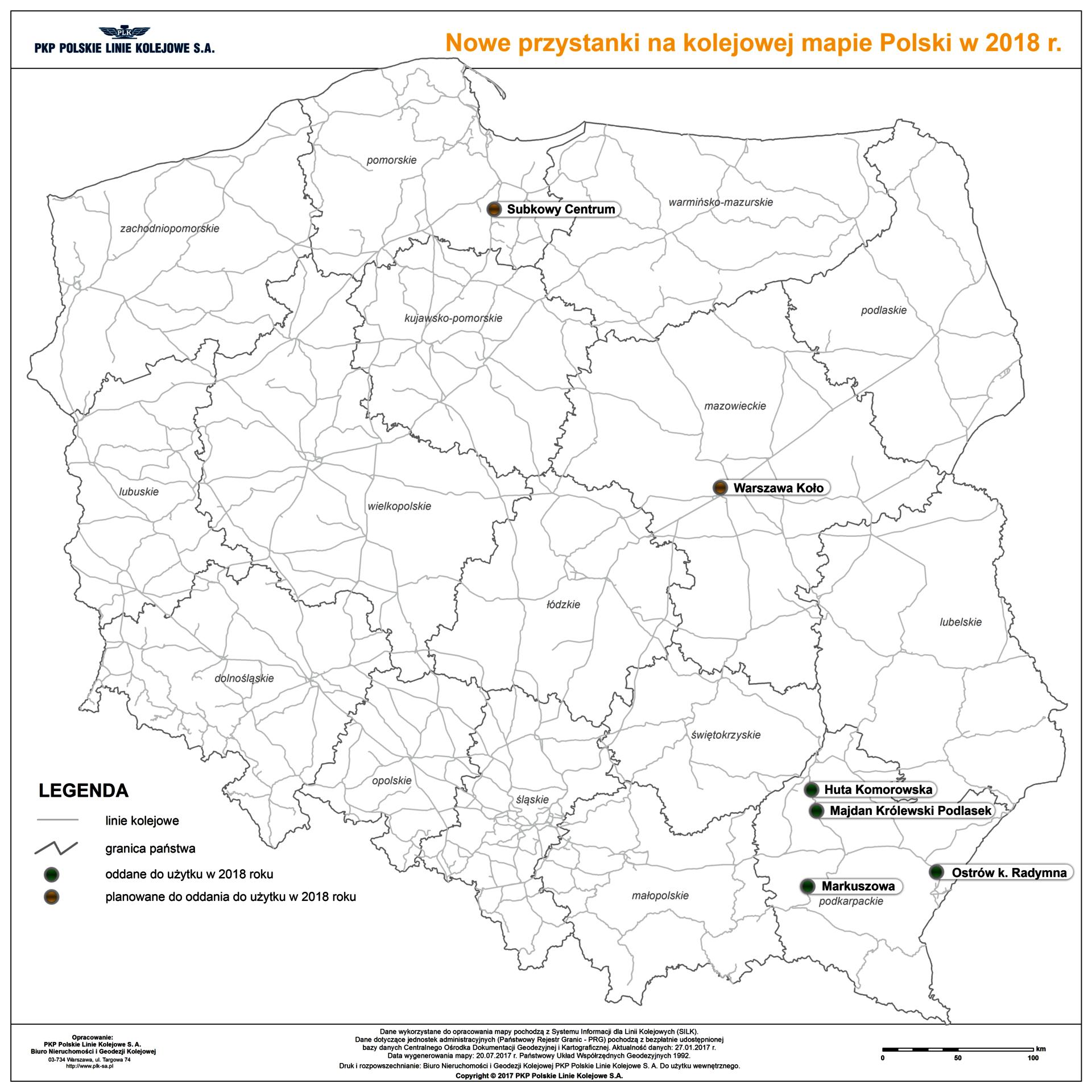 NaKolei.pl-Nowe przystanki m.in. na Podkarpaciu. PLK zmienia również stare nazwy stacji