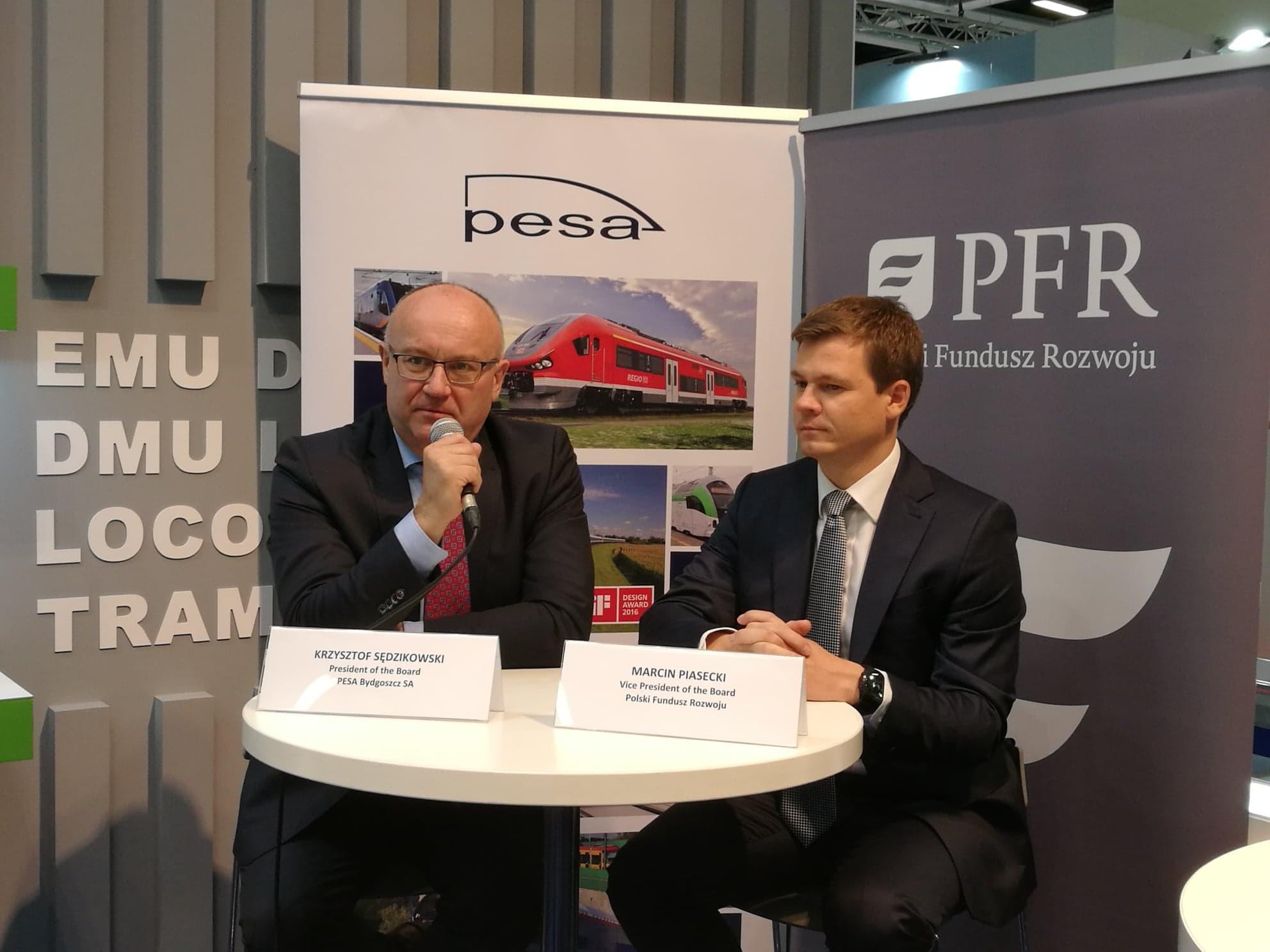 PESA i PFR na InnoTrans 2018: Realizacja umowy inwestycyjnej możliwa na przełomie września i października