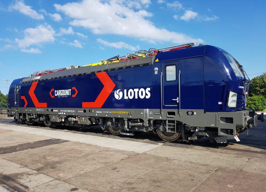 NaKolei.pl - Lokomotywa Vectron dla CARGOUNIT będzie jeździć w barwach LOTOS Kolej