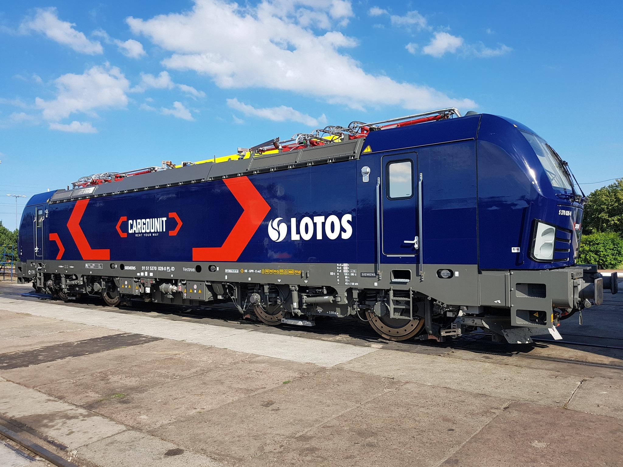 Lokomotywa Vectron dla CARGOUNIT będzie jeździć w barwach LOTOS Kolej