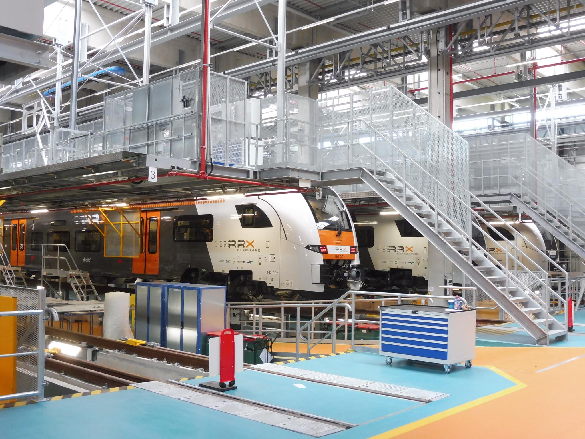 NaKolei.pl - Siemens Mobility: Otwarcie nowej zajezdni serwisowej dla pociągów Rhine Ruhr Express