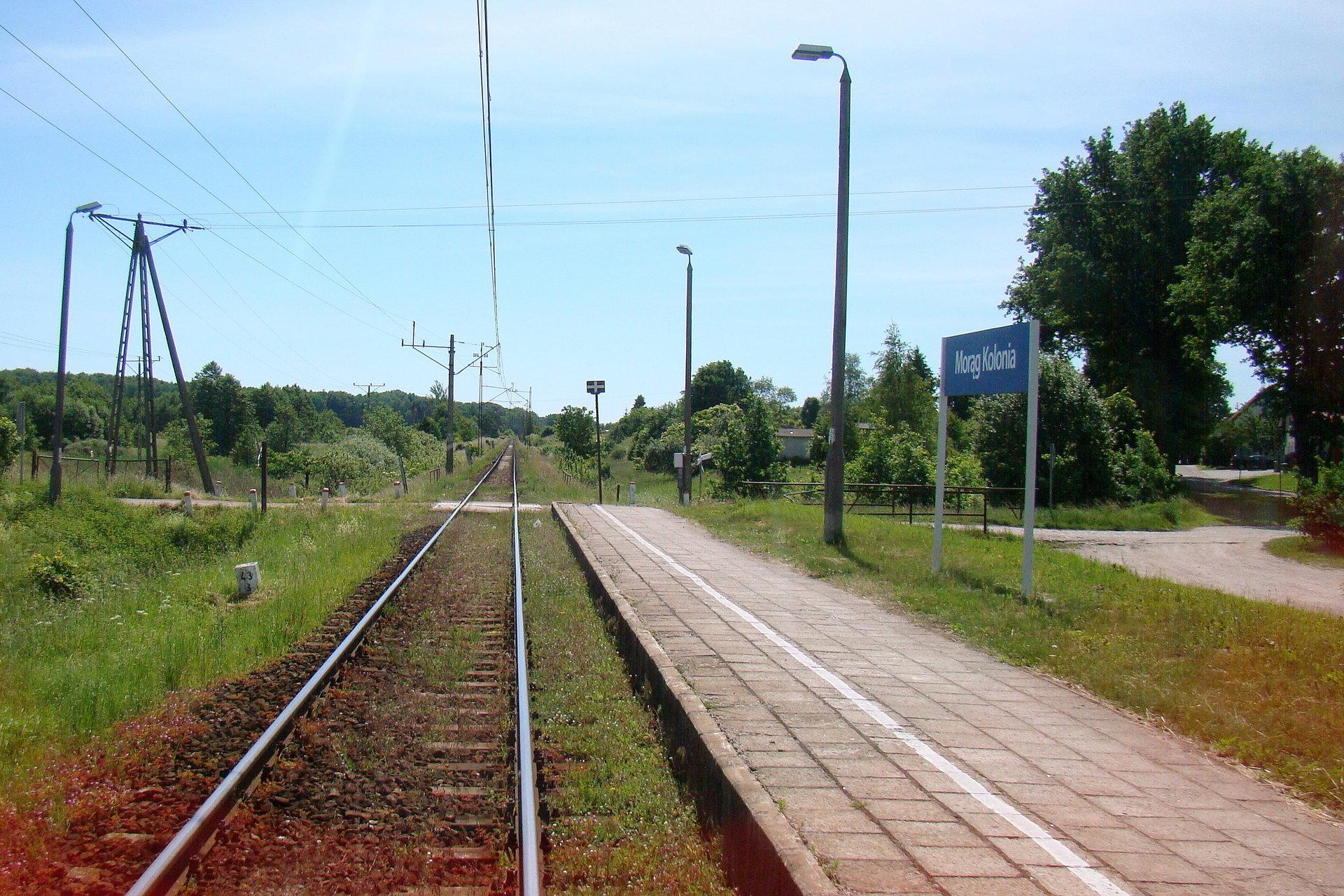 NaKolei.pl - PLK remontuje stację Morąg i przystanek Morąg Kolonia