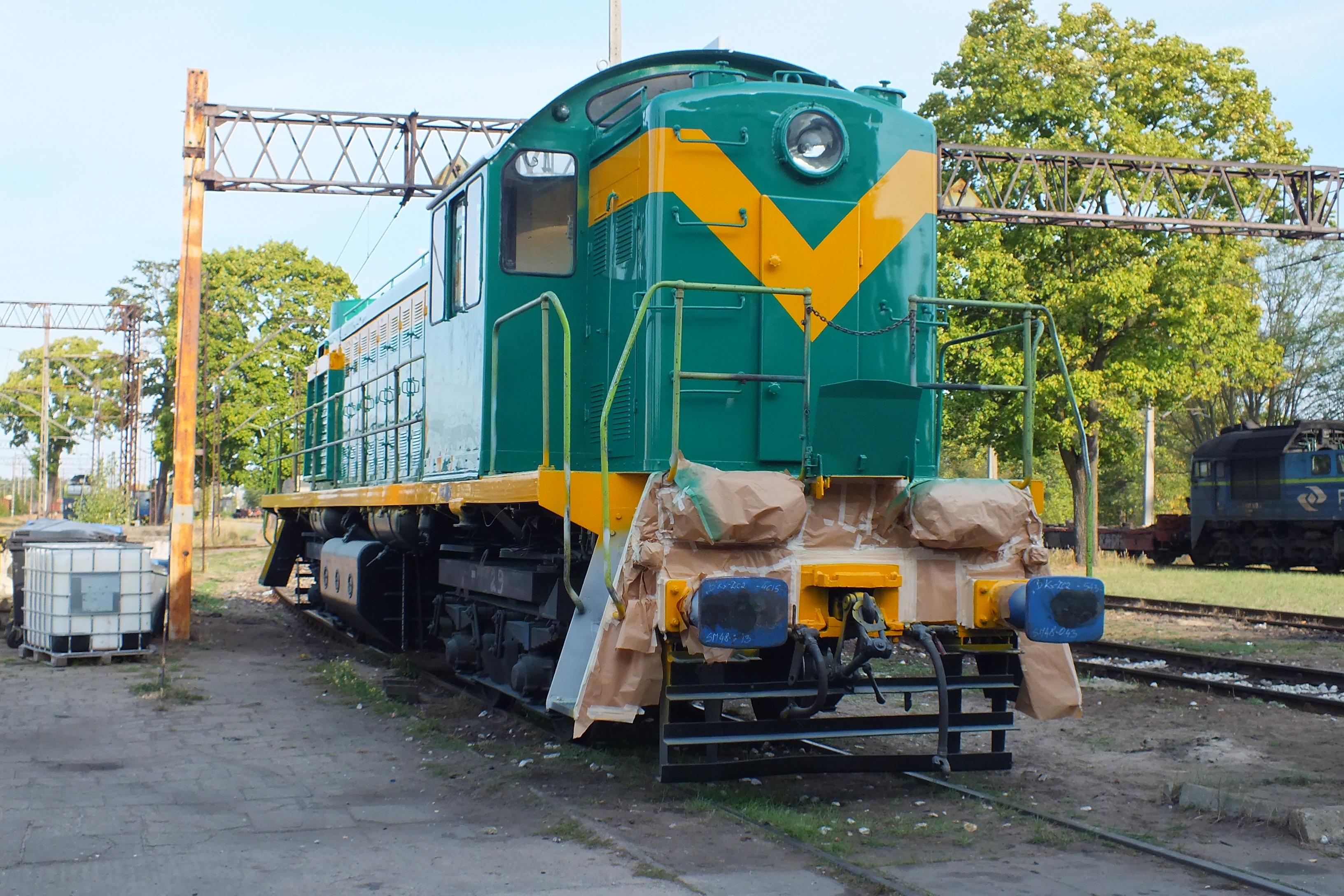 NaKolei.pl - Lokomotywa SM48-043 po naprawie P4 i w historycznych barwach. Zasili flotę PKP CARGO