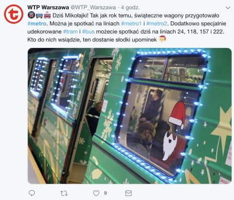 Świąteczne metro rusza na obie linie