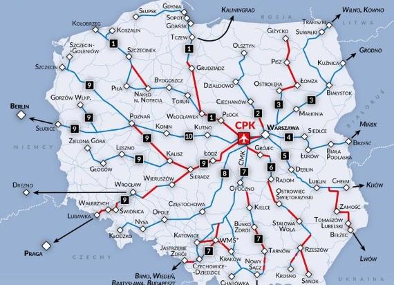 """10 szybkich """"szprych"""". Przy okazji budowy CPK powstanie aż 1600 km nowych linii kolejowych!"""
