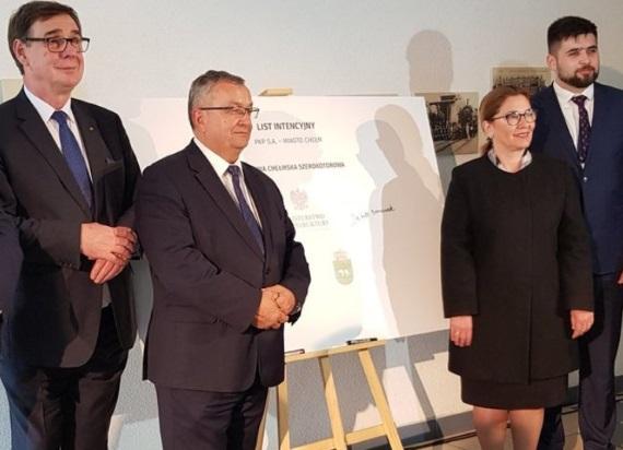 PKP S.A. i władze Chełma podpisały list intencyjny ws. powołania spółki PKP Linia Chełmska Szerokotorowa