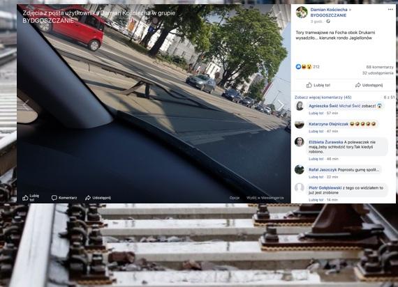 Bydgoszcz: Tory tramwajowe nie wytrzymały upału