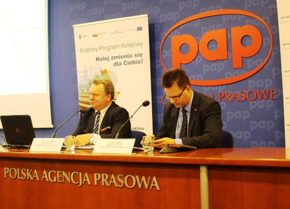 Konferencja prasowa - Master Plan dla transportu kolejowego w aglomeracji warszawskiej Fot. nakolei.pl