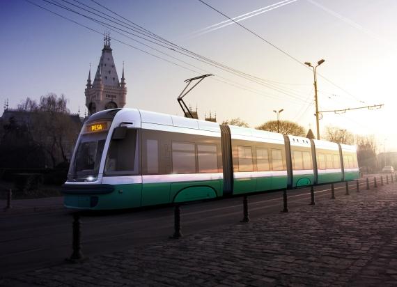Wizualizacja proponowanych tramwajów dla Iasi