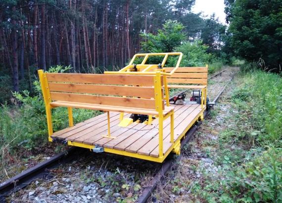 Drezyna walczy o rewitalizację linii kolejowej