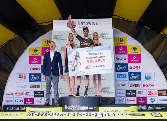 Luka Mezgec z nagrodą PKP Intercity dla najlepszego sprintera 76. Tour de Pologne