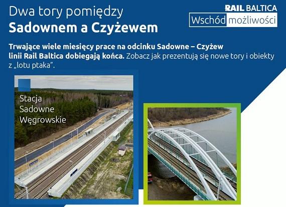 Rail Baltica: Prace na odcinku Sadowne – Czyżew dobiegają końca