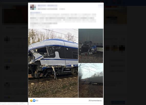 Wypadek na przejeździe w Ozimku. Zginął kierowca TIR-a