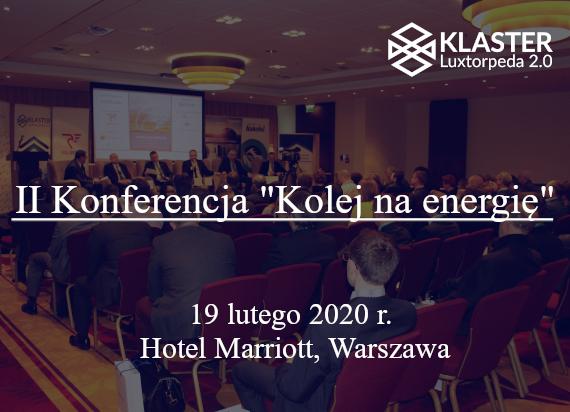 """II Konferencja """"Kolej na Energię"""" już za tydzień!"""