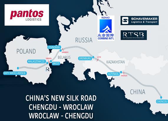 Do Korei Południowej przez Chiny wyruszył pierwszy pociąg z Polski