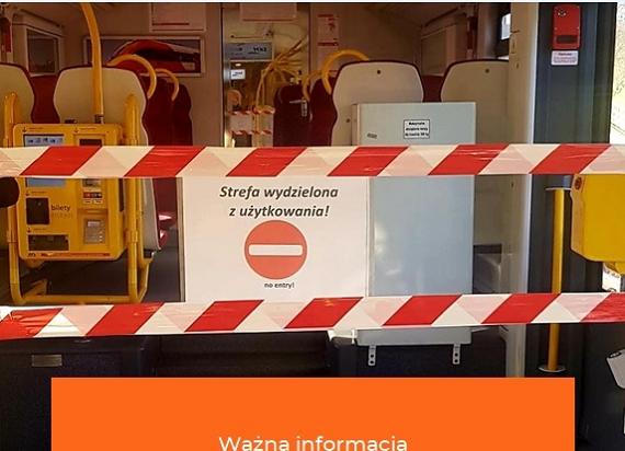 Wydzielona strefa bezpieczeństwa w pociągach SKM Warszawa