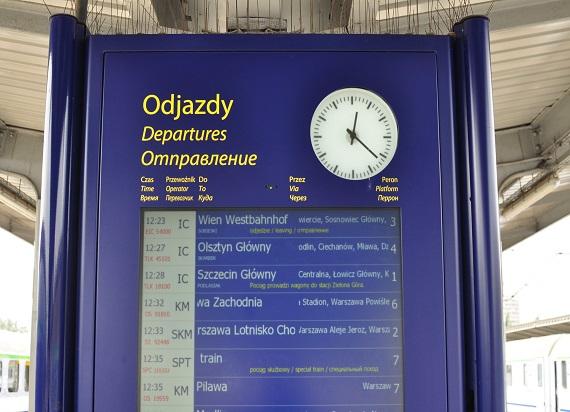 Zmiana czasu na kolei a podróż pociągiem